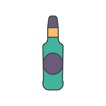 Alcohol bottle cartoon icon.