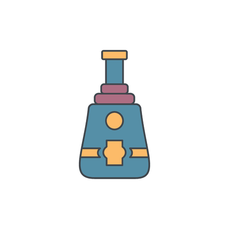 Alcohol bottle cartoon icon. Vector object in colour cartoon stile vodka bottle icon for drinks design, menue and web Illustration