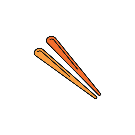 Food stick cartoon  icon. Thailand Food stick vector illustration isolated on white background. Element Thailand culture and traditions.