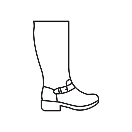High boot icon. Vector high boot for fashion design on white background. Stock Photo