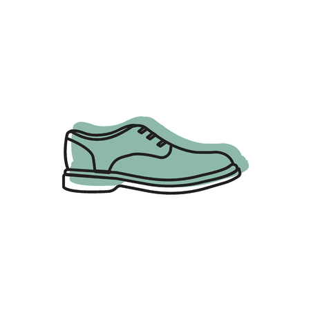 Low shoe icon doodle illustration of low shoe vector icon for web and advertising.