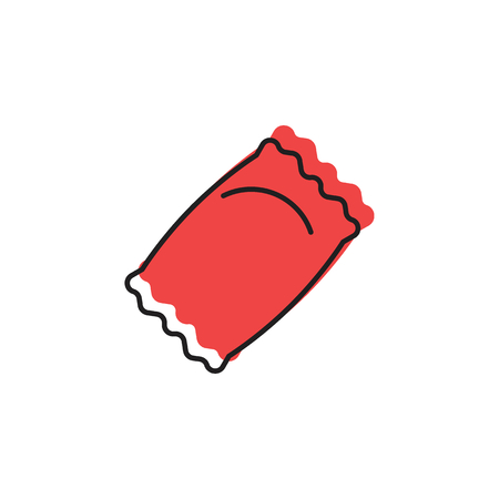 Candy icon. Doodle illustration of red Candy vector icon for web and advertising