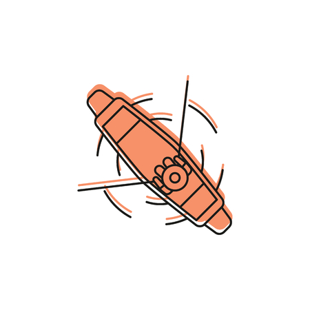 Boat doodle icon vector illustration  イラスト・ベクター素材