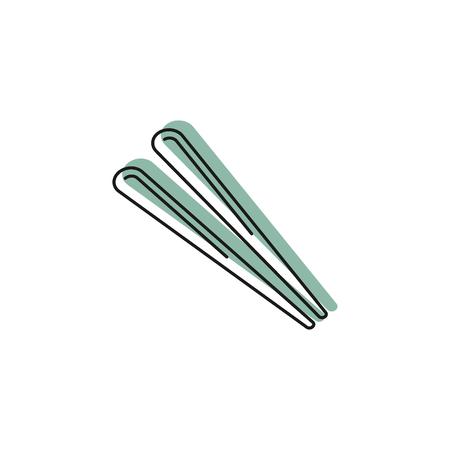 Chopsticks icon vector illustration Illustration