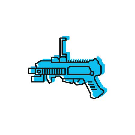 Virtual reality gun icon. Doodle illustration of Virtual reality gun vector icon for web and advertising