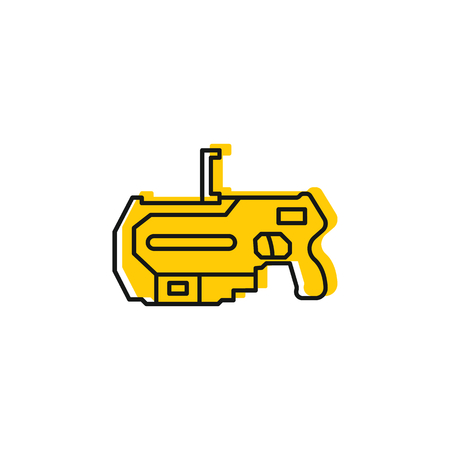 Virtual reality gun icon. Doodle illustration of Virtual reality weapon vector icon for web and advertising