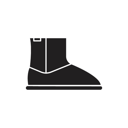 High boot icon. Silhouette illustration of High boot