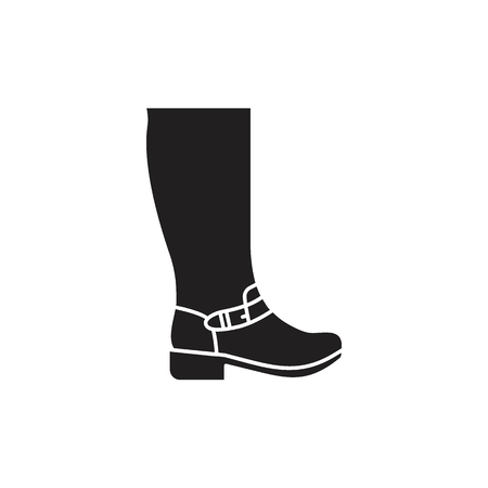 High boot icon. Silhouette illustration of High female boot vector icon for web and advertising