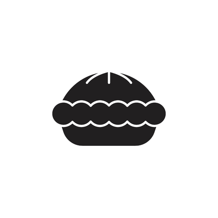 Pie icon. Silhouette illustration of pie vector icon for web and advertising