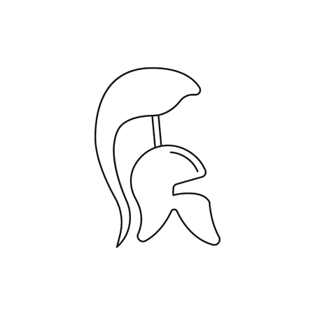 Greek helmet icon. Outline illustration of Greek helmet vector icon for web and advertising