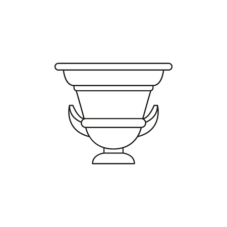 Ancient amphora icon. Outline illustration of Ancient amphora vector icon for web and advertising Vettoriali