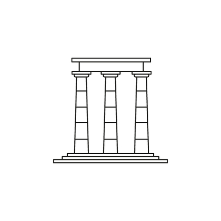 Temple ruins icon. Outline illustration of Temple ruins vector icon for web and advertising
