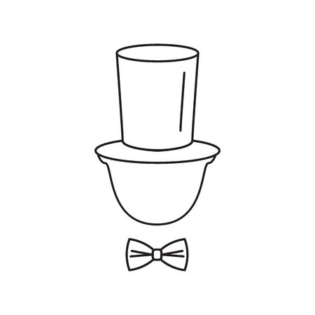 Gentleman tophat icon. Outline gentleman tophat vector icon for web design isolated on white background