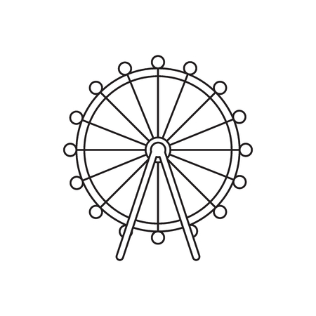 London eye icon. Outline london eye vector icon for web design isolated on white background