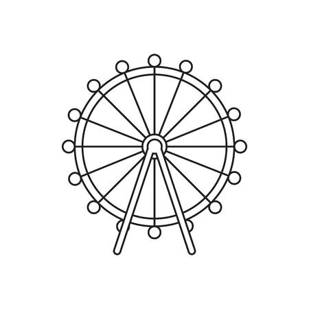 London eye icon. Outline london eye vector icon for web design isolated on white background Reklamní fotografie - 97322702