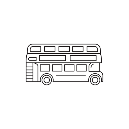 London bus icon. Outline London bus vector icon for web design isolated on white background
