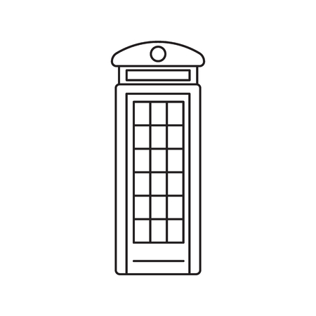 London phone box icon. Outline London phone box vector icon for web design isolated on white background