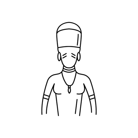 Zulu man icon. Outline zulu man vector icon for web design isolated on white background Illustration