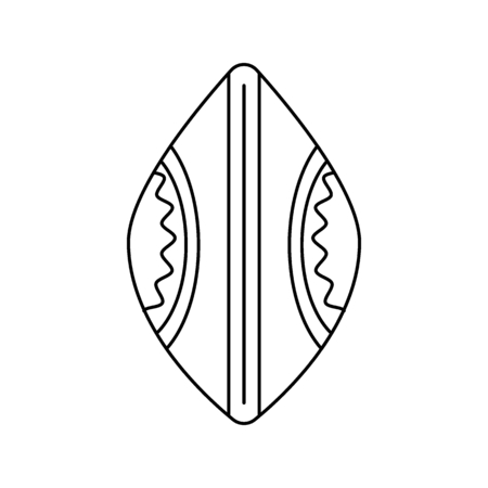 African shield icon. Outline african shield vector icon for web design isolated on white background Illustration