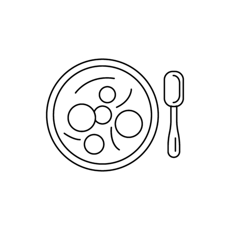 Bakso icon. Outline bakso vector icon for web design isolated on white background Illustration