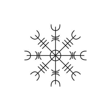 Viking symbol icon. Outline viking symbol vector icon for web design isolated on white background