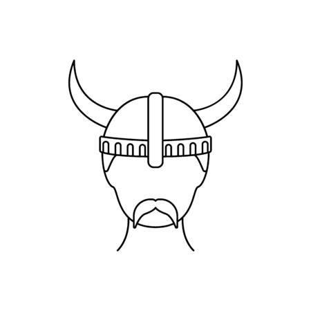 Berserker icon. Outline berserker vector icon for web design isolated on white background