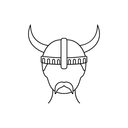 Berserker icon. Outline berserker vector icon for web design isolated on white background