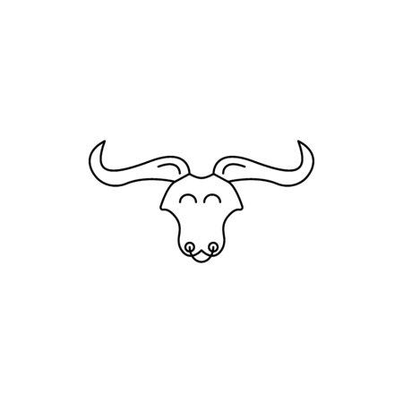 Bullish head icon. Outline bullish head vector icon for web design isolated on white background