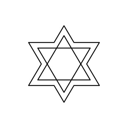 Star of David icon vector illustration