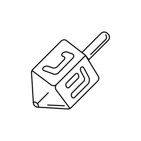 Dreidel icon. Outline dreidel vector icon for web design isolated on white background Illustration