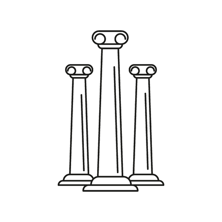 Ancient columns icon. Outline ancient columns vector icon for web design isolated on white background