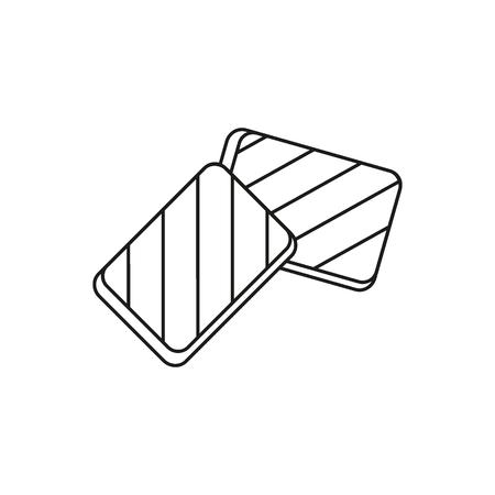 Halloumi icon. Outline halloumi vector icon for web design isolated on white background Illustration