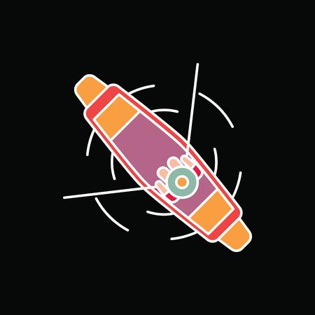 ボートのアイコン。黒の背景に隔離されたウェブデザインのための漫画ボートベクトルアイコン 写真素材 - 97717351
