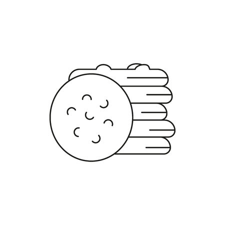 Biscuits icon. Outline biscuits vector icon for web design isolated on white background