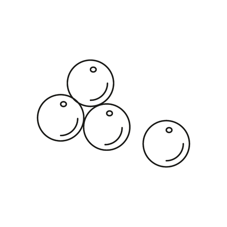 Cannon balls icon. Outline cannon balls vector icon for web design isolated on white background