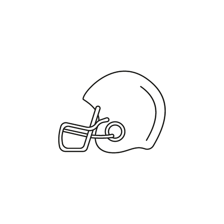 American football helmet icon. Outline american football helmet vector icon for web design isolated on white background