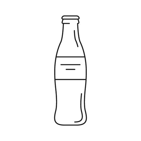 Cola fles pictogram. Overzicht cola fles vector pictogram voor webdesign geïsoleerd op een witte achtergrond
