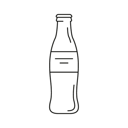 Cola bottle icon. Outline cola bottle vector icon for web design isolated on white background