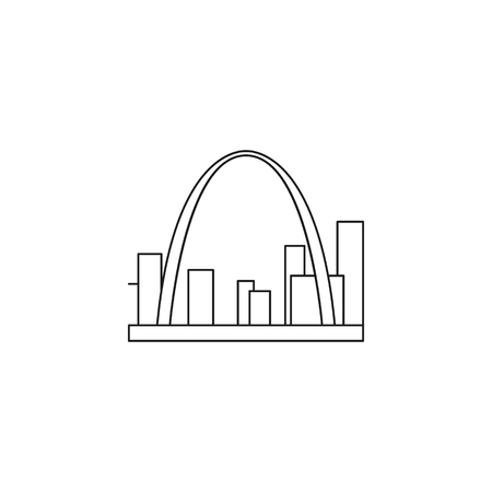 American arch icon. Outline american arch vector icon for web design isolated on white background