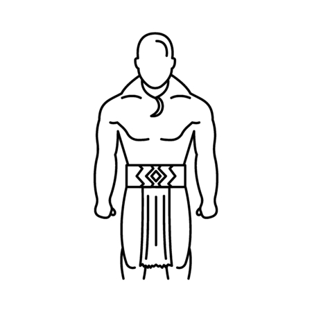 Maori icon. Outline maori vector icon for web design isolated on white background