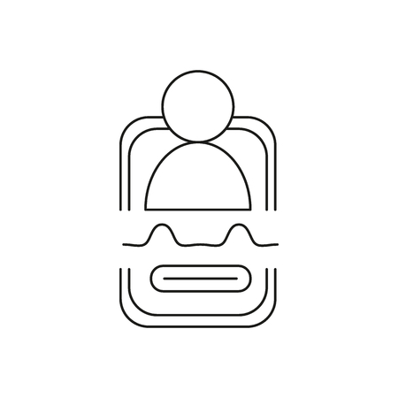Personal assistant icon. Outline personal assistant vector icon for web design isolated on white background