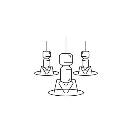 Nano robot icon. Outline nano robot vector icon for web design isolated on white background