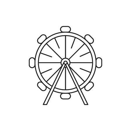 Ferris wheel icon. Outline ferris wheel vector icon for web design isolated on white background