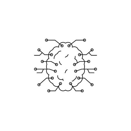 Neural network icon. Outline neural network vector icon for web design isolated on white background Ilustração