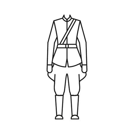 Icône de costume canadien homme. Icône de vecteur de costume canadien homme contour pour la conception web isolé sur fond blanc