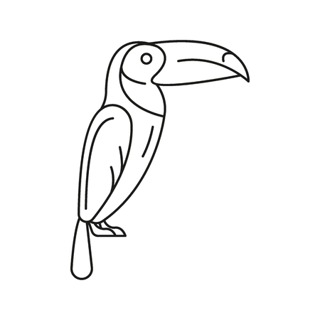 Toucan icon. Outline toucan vector icon for web design isolated on white background Illustration