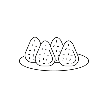 Coxinha icon. Outline coxinha vector icon for web design isolated on white background