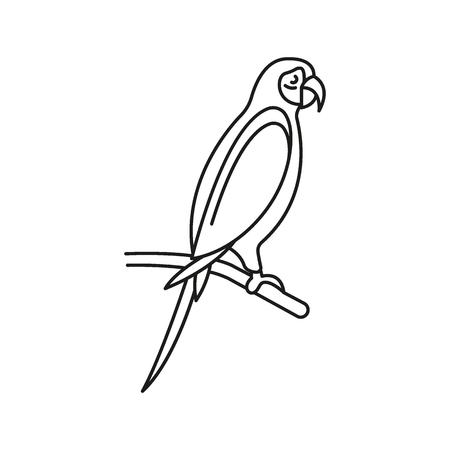Icône de perroquet. Décrire l'icône vecteur perroquet pour la conception web isolé sur fond blanc