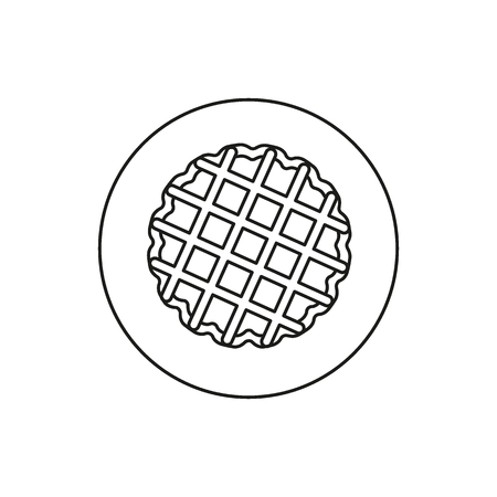 Waffles icon. Outline waffles vector icon for web design isolated on white background Vettoriali