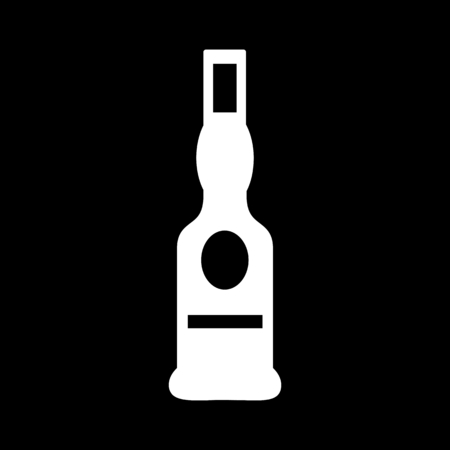 Bottle silhouette vector illustration  イラスト・ベクター素材